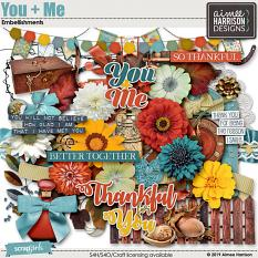 You and Me Embellishments