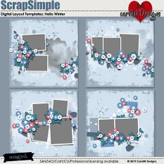 ScrapSimple Digital Layout Templates:Hello Winter