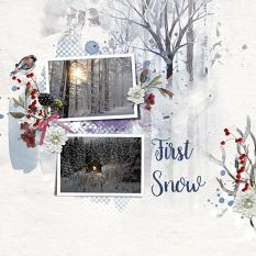 Layout using ScrapSimple Digital Layout Templates:Hello Winter