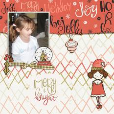 Be Jolly layout created by Geraldine Touitou