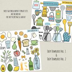 Tasty embellishment templates included in kit