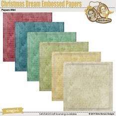 Christmas Dream Embossed Papers by Silvia Romeo