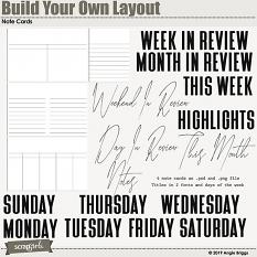 Value Pack: Build Your Own Layout Note Cards