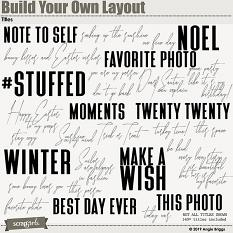Value Pack: Build Your Own Layout Titles