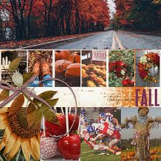 Fall layout using Value Pack: Build Your Own Layout