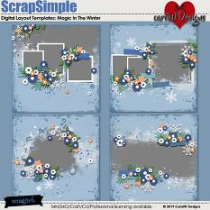 ScrapSimple Digital Layout Templates:Magic In The Winter