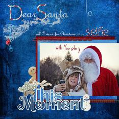 """Dear Santa"" digital scrapbook layout showcases Pear Tree Collection"