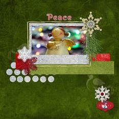 """Peace"" digital scrapbook layout showcases Pear Tree Collection"