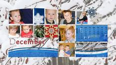 """December"" digital scrapbook layout showcases Pear Tree Collection"
