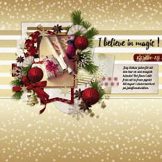Wrapping layout using Winter Miracles Collection