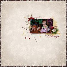 Happy New Year layout using Winter Miracles Collection