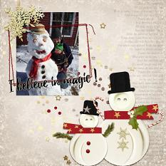 Frosty layout using Winter Miracles Collection