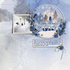Layout using ScrapSimple Digital Layout Collection:Magic In The Winter