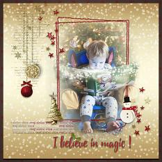 Tales reading layout using Winter Miracles Collection