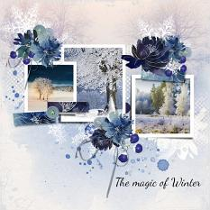 Layout using ScrapSimple Digital Layout Templates:Magic In The Winter