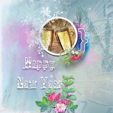 Layout using ScrapSimple Digital Layout Templates:Happy New Year!