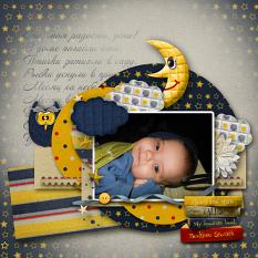 My baby layout using Bedtime Stories Collection