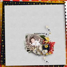 Sleeping baby My sleeping angel layout using Bedtime Stories Collection