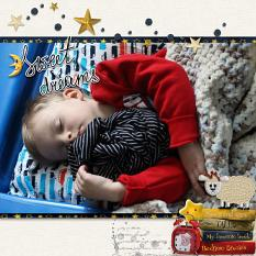 Sweet dreams layout using Bedtime Stories Collection
