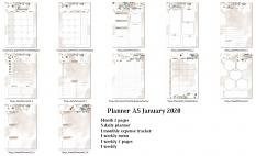 layout using Planner A5 January 2020 by Florju