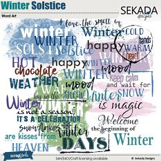 Winter Solstice Word Art