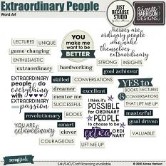 Extraordinary People Word Art