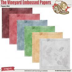 The Vineyard Embossed Papers by Silvia Romeo