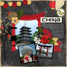 Layout using Chinese Festival by Connie Prince