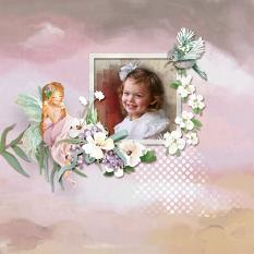 Layout using ScrapSimple Digital Layout Collection:A Good Dream