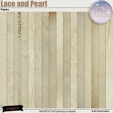 Lace and Pearl Paper by BeeCreation