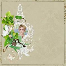 layout using Lace and Pearl Collection by BeeCreation