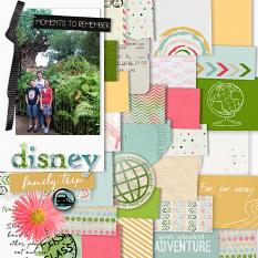 Disney layout using Value Pack: Tickets, please.