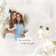 Layout using ScrapSimple Digital Layout Collection:Golden Wedding