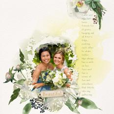 Layout using ScrapSimple Digital Layout Collection:Beautiful Love