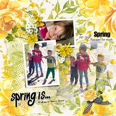 Layout using ScrapSimple Digital Layout Templates:Spring Is