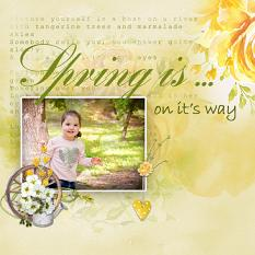 Layout using ScrapSimple Digital Layout Collection:Spring Is