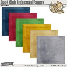 Book Club Embossed Papers by Silvia Romeo