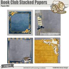 Book Club Stacked Papers by Silvia Romeo