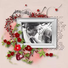 layout using Kiss Me Collection by BeeCreation