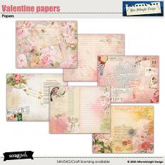 Valentine papers by Aftermidnight Design