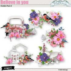 Believe in you Clusters Embellishments