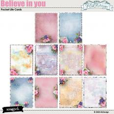 Believe in you pocket Life  Journal cards