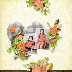 layout using Bonheur Collection by BeeCreation
