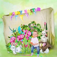 layout using Easter Collection by BeeCreation