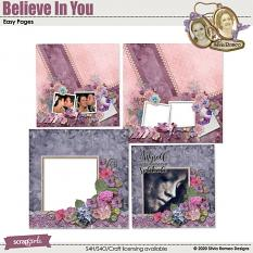 Believe In You Quick Pages Set by Silvia Romeo