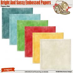 Bright And Sassy Embossed Papers by Silvia Romeo