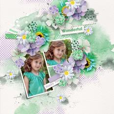 Layout using ScrapSimple Digital Layout Collection:Green Green Life