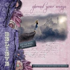 Layout using elements from Believe in You