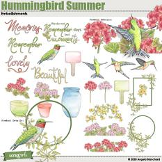 Hummingbird Summer Collection Mini Embellishment Details
