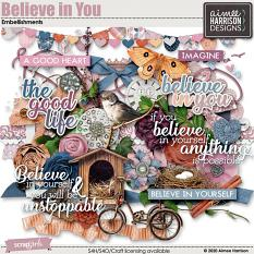 Believe in You Embellishments